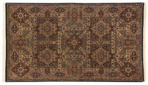 5×7 Panel Oriental Multi Color Hand-Knotted Rug