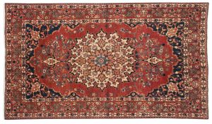 5×7 Persian Baktiari Oriental Red Hand-Knotted Rug