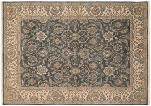 5×7 Ghoum Oriental Blue Hand-Knotted Rug