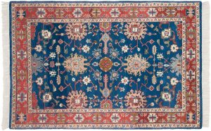 5×7 Vintage Sultanabad Oriental Blue Hand-Knotted Rug