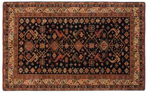 5×8 Shirvan Oriental Blue Hand-Knotted Rug