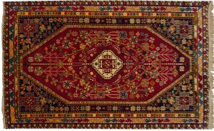 5×8 Vintage Caucasian Oriental Rust Hand-Knotted Rug