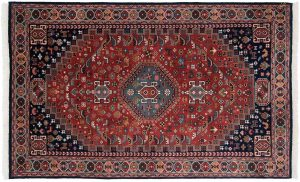 5×8 Ghashghai Oriental Rust Hand-Knotted Rug
