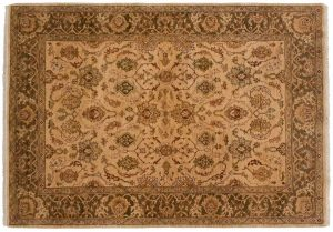 5×8 Oushak Oriental Gold Hand-Knotted Rug