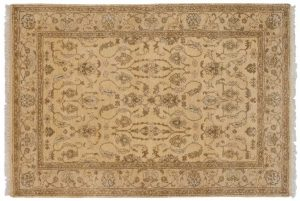 5×8 Kashan Oriental Gold Hand-Knotted Rug