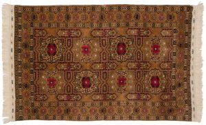 5×8 Vintage Kizilayak Oriental Gold Hand-Knotted Rug