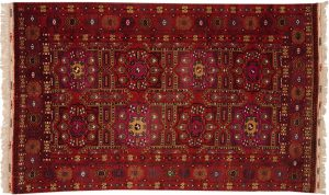 5×8 Vintage Kizilayak Oriental Red Hand-Knotted Rug