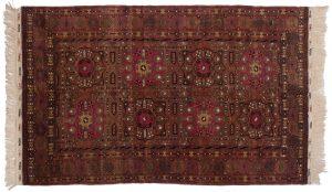 5×8 Vintage Kizilayak Oriental Rose Hand-Knotted Rug