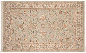 5×8 Mahal Oriental Green Soumak Weave Rug