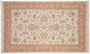 5×8 Mahal Oriental Ivory Soumak Weave Rug
