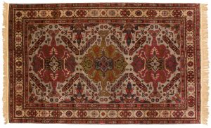 5×8 Vintage Mikrah Oriental Grey Hand-Knotted Rug