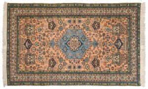 5×8 Vintage Persian Ardebil Oriental Rust Hand-Knotted Rug