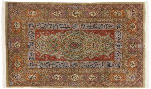 5×8 Vintage Persian Tabriz Oriental Rust Hand-Knotted Rug