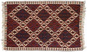 5×8 Sarkoy Oriental Red Kilim (Flatweave) Rug