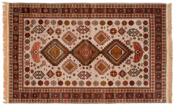 5x8 shirvan gold oriental rug 028237