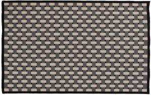 5×8 Soumak Oriental Black Soumak Weave Rug