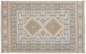 5×8 Soumak Oriental Ivory Soumak Weave Rug