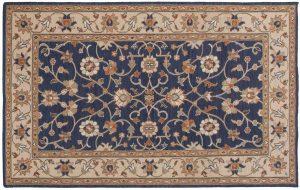 5×8 Soumak Oriental Blue Soumak Weave Rug
