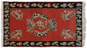 5×9 Bessarabian Oriental Red Kilim (Flatweave) Rug