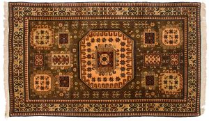 5×9 Vintage Kazak Oriental Brown Hand-Knotted Rug