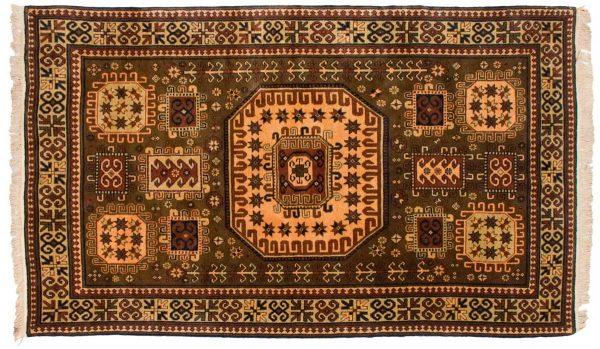 5x9 kazak brown oriental rug 027497