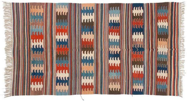 5x9 kilim multi color oriental rug 034623