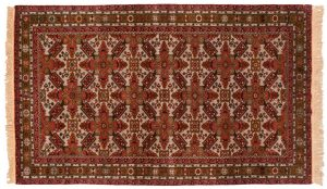5×9 Vintage Mikrah Oriental Grey Hand-Knotted Rug