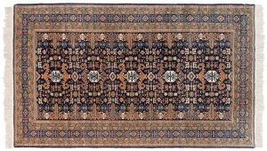 5×9 Semi-Antique Persian Ardebil Oriental Blue Hand-Knotted Rug
