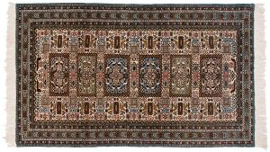 5×9 Persian Ardebil Oriental Ivory Hand-Knotted Rug