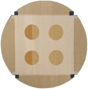 6×6 Nicholls Oriental Multi Color Kilim (Flatweave) Round Rug