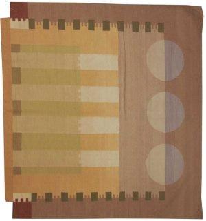 6×6 Nicholls Oriental Multi Color Kilim (Flatweave) Square Rug
