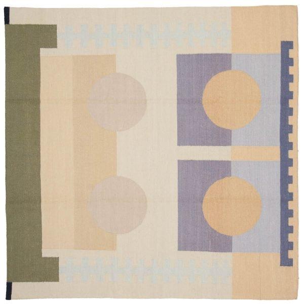 6x6 nicholls multi color oriental square rug 012858