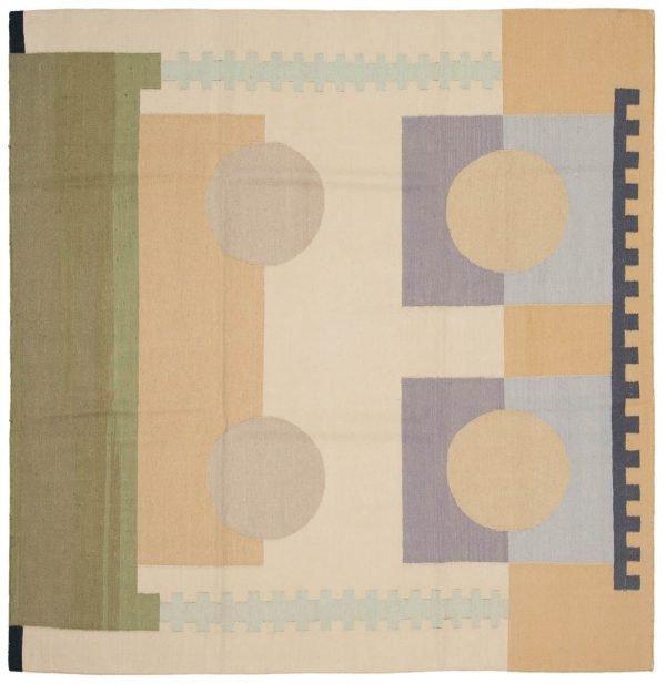 6x6 nicholls multi color oriental square rug 012922