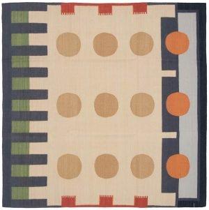 6×6 Vintage Nicholls Oriental Multi Color Kilim (Flatweave) Square Rug