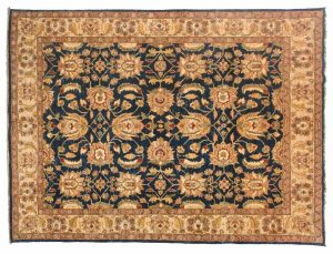 6×8 Agra Oriental Blue Hand-Knotted Rug