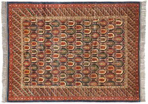 6×8 Caucasian Oriental Blue Hand-Knotted Rug