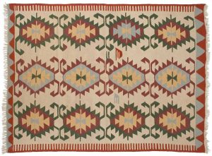 6×8 Kilim Oriental Beige Kilim (Flatweave) Rug