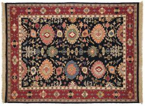 6×8 Serapi Oriental Blue Soumak Weave Rug