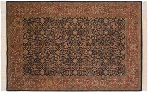 6×9 Amritsar Oriental Grey Hand-Knotted Rug