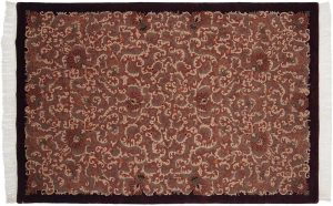 6×9 Arts & Crafts Oriental Peach Hand-Knotted Rug