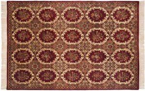 6×9 Bessarabian Oriental Burgundy Hand-Knotted Rug