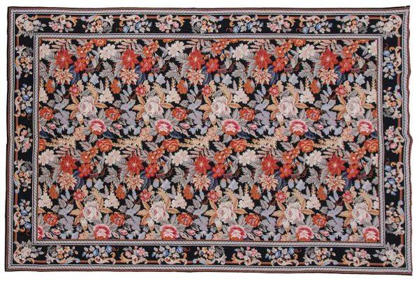 6x9 black oriental rug 013928