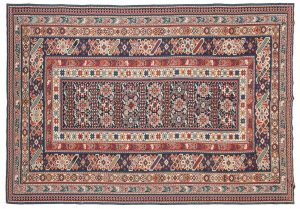 6×9 Vintage Shirvan Oriental Blue Fine Needlepoint Weave Rug