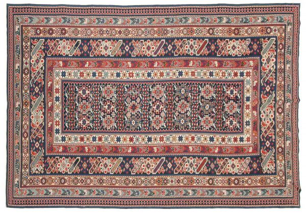 6x9 blue oriental rug 045227