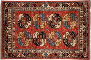 6×9 Ersari Oriental Rust Hand-Knotted Rug