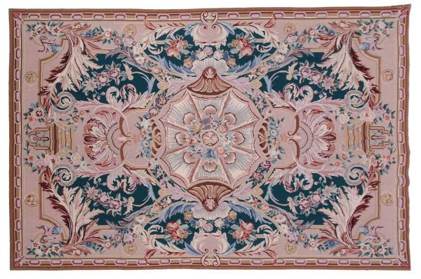 6x9 green oriental rug 013929