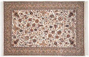 6x9 isfahan ivory oriental rug 037560