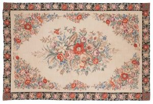 6×9 Aubusson Oriental Ivory Fine Needlepoint Weave Rug