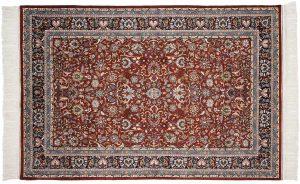 6×9 Vintage Kashan Oriental Rust Hand-Knotted Rug