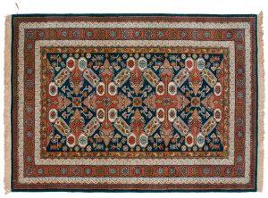 6×9 Vintage Kazak Oriental Blue Hand-Knotted Rug